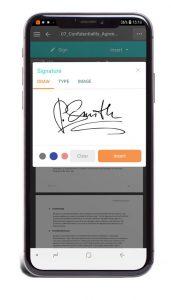 SignOnTheGo-esignature-phone-post-covid-signature